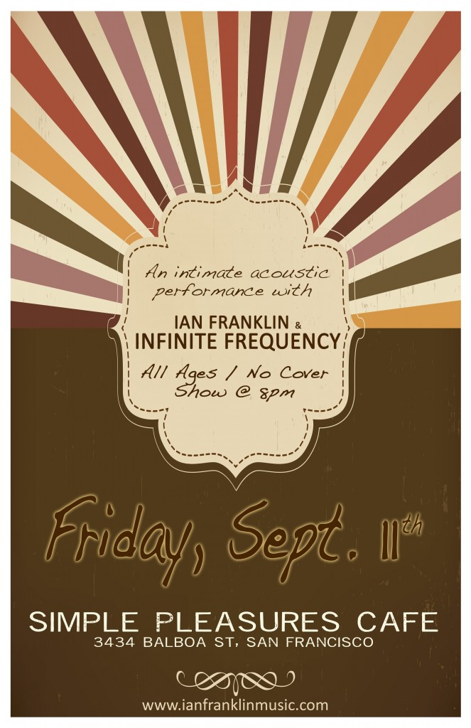 Ian Franklin Amp Infinite Frequency In Concert At Simple